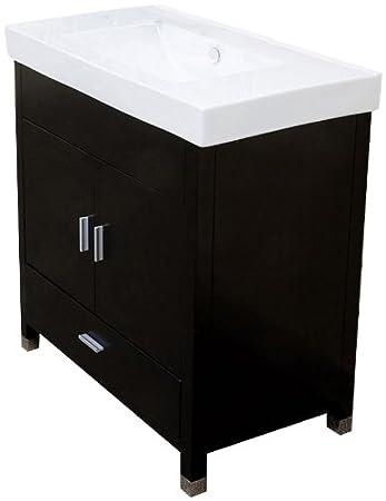 bellaterra home 203107s 315inch single sink vanity wood black