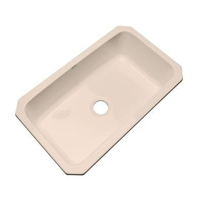 Manhattan Undermount Acrylic 33x19.5x9 0-Hole Single Bowl Kitchen Sink in Peach Bisque - Manhattan Undermount Acrylic