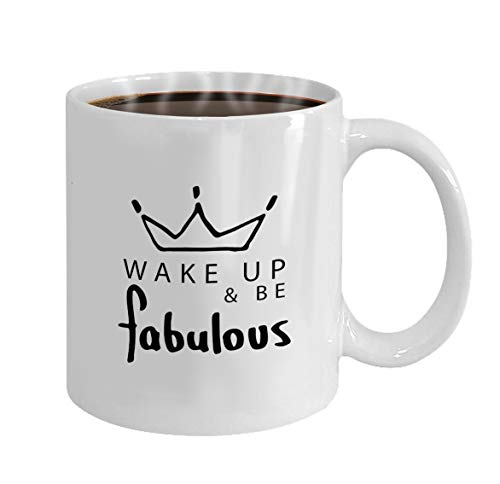 Funny Gifts for Halloween Party Gift Coffee Mug Tea fabulous slogan textile print design wake up be typ]()