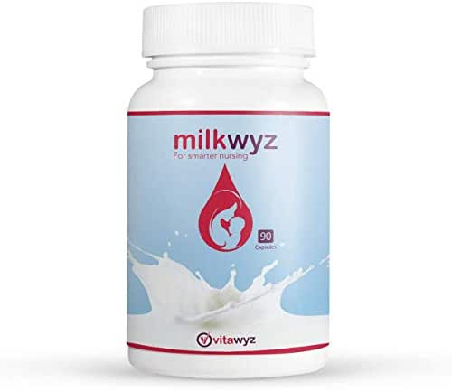 milkywyz Lactation Supplement for Breastfeeding Moms- powerful mix of quality herbs&greens designed to enhance the production of Mothers Milk-including Fenugreek Moringa-Free Bonus-e-Book for Mothers!