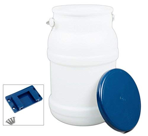 Ice Tote Bucket Cooler (5 Gallon ) with Lid, Mounting Bracket Bundle, and the Tongs.
