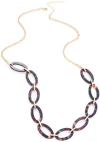 Necklace,animal print necklace,tortoiseshell necklace,