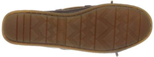 Minnetonka Boat Moc 616S - Mocasines de cuero para mujer Marrón (Chocolatechocolate)