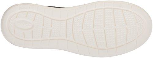 Crocs Mens Literide Allacciatura Nero / Bianco