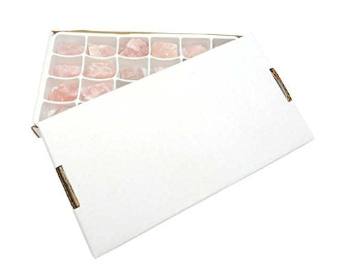 Crystals & Healing Stones Set - Premium Healing Crystals Gift Kit in Box - Chakra Set Natural Stones - Rustic Home Decorations Collection Rose Quartz