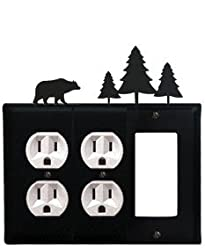Eoog-83 Bear & Pine Trees Outlet Outlet Gfi Electric Cover