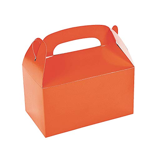 1 X Lot of 12 Orange Treat Boxes Halloween Party Favors