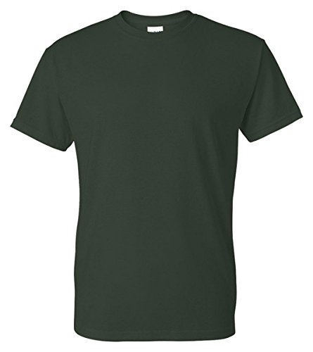 50 Adult S/s Tee - Gildan Adult 5.6 oz 50/50 L/S T-Shirt in Forest Green - Medium