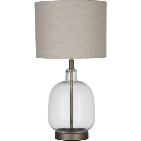 Better Homes and Gardens Clear Glass Lamp Artisan Glass Table Lamp, Easy On/Off Switch, 22'' Height (55.9cm) Clear Glass Finish