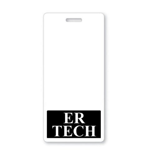 ER TECH Vertical Badge Buddy with Black Border by Specialist ID, Sold Individually