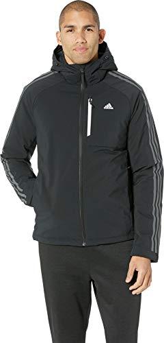 adidas outdoor Men's 3-Stripe Down Hoodie, L, ()