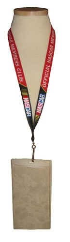 OFFICIAL NASCAR MEMBERS CLUB LANYARD ID TICKET CREDENTIALS HOLDER necklace