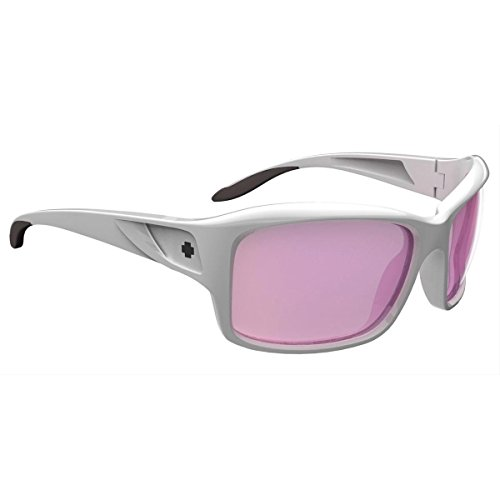 Spy Optics Women's Libra White Pearl Wrap Sunglasses,White,60 - Spy Sunglasses Scoop