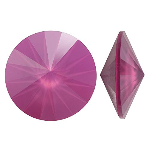 Swarovski Crystal, 1122 Rivoli Fancy Stones 14mm, 2 Pieces, Crystal Peony Pink