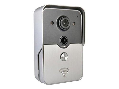 Wi-Fi対応ビデオインターホン スマホでどこでも来客確認 iOS/Android対応 暗視対応カメラ モーションセンサー搭載 FMTDP602 B06XDLFCS2