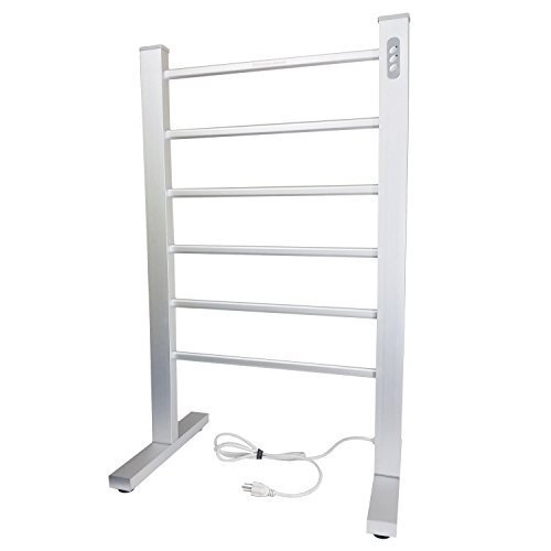 Electric Towel Warmer with Dual Temperature Auto Shut Off Timer Built In - Freestanding or Wall Mounted - Made to Heat Bath Towels to Spa Hot Temperatures and makes a great Clothes Drying Rack
