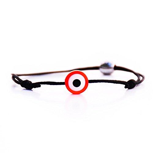 Matimoo Evil Eye Bracelet Red Eye Black Cord ()