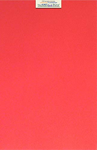 25 Watermelon Red 65lb Cover Card Paper - 12 X 18 (12X18 Inches) Large Poster Size - 65 lb/pound Light Weight Cardstock - Quality Printable Smooth Surface for Bright Colorful Results