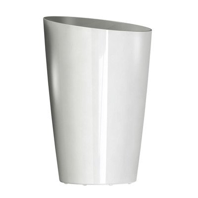 DCN Plastic Round Tall Planter, 13-Inch, White by DCN Plastic