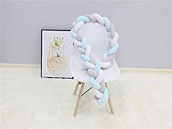 Snake Cushion Bumper Protection and Decoration Bed and Cradle for Newborns Velvet 2M 2.5M 3M Niocaa Braided Baby Bumper