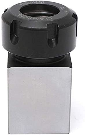ZGQA-GQA Hard Steel Square ER-25 Collet Chuck Block Lathe Tool Holder Metal Lathes