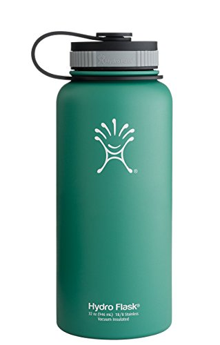 Hydro Flask Insulated Stainless Steel Water Bottle, Wide Mouth, 40-Ounce, Green - Of Triathlon Woman Power