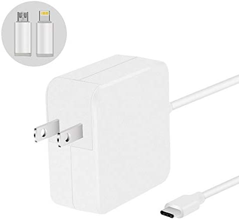 [ UL List ] 45W Type C Wall Charger Power Adapter for MacBook 13 12 Inch Nintendo Switch HP Spectre X360 Iphone 8 7 x 6s plus 9.7 Ipad pro air Sumsung Galaxy S9 S8 S7 note 8 with Apple Android Adapter