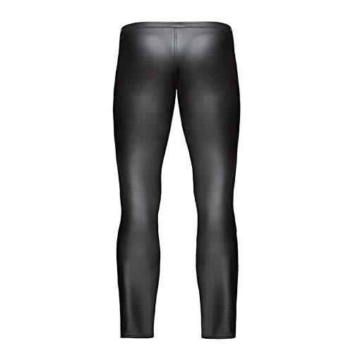 À Similicuir Black Hommes Taille Fermeture Devant Wetlook Basse Brillant Latex Longue Fxwj Sexy Glissière Pantalon Pantalons Leggings wP4adEPnxq