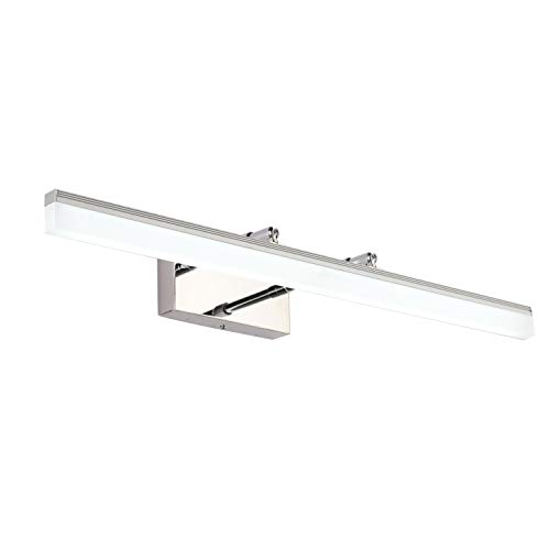 SAILUN Bathroom Vanity Light Fixture 20W 36 inch Vanity Mirror Light Arm Length Adjustable Stainless Steel Acrylic Wall Light for Bathroom Dressing Room IP44 Waterproof 1850LM Cold White