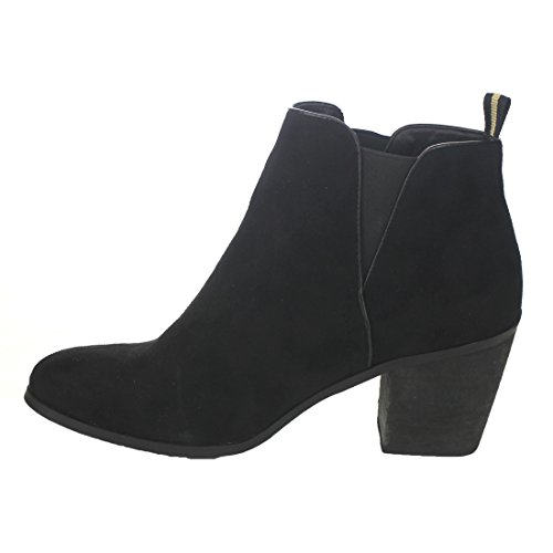 Refresh Women's On Block FP02 Booties Black Slip Ankle Heel Chelsea Med rBngrpwq