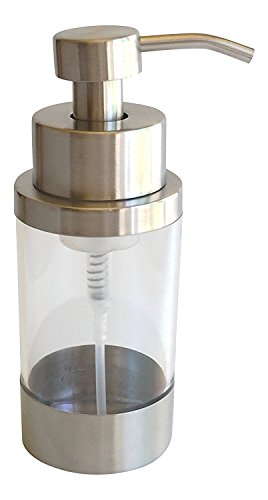 Ultimate Bath Stainless Steel Countertop Foaming Soap Dispenser (Satin Finish) - Replace your single-use plastic soap dispensers with this beautiful high quality stainless and acrylic countertop soap