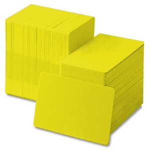 Yellow 30 mil CR80 Graphic Quality PVC Cards (500/BOX)