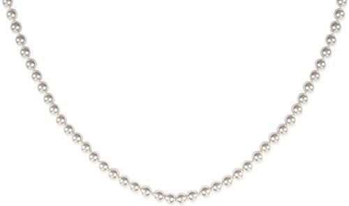 Collier en Plaqué Or et Perles Synthétiques - Perles Blanches - 6 mm - Bijoux Femme