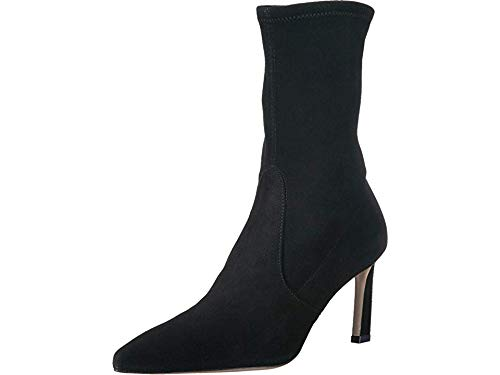 Stuart Weitzman Women's Rapture 75 Black Suede 8 W US