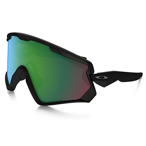 Oakley Wind Jacket 2.0 Snow Goggles, Matte Black, Prizm Jade Iridium, One Size
