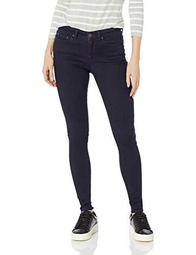 Amazon Brand - Daily Ritual Women's Mid-Rise Skinny Jean, Indigo Blue Overdyed, 29 (8) Regular