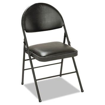 XL plegable sillas asiento y respaldo, de vinilo de, negro ...