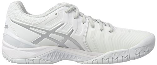Asics Women's Gel-Resolution 7 Sneakers White (White/Silver 0193) LWOzFvSvA5