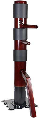 AUGUSTAPRO Traditional Ip Man Wing Chun SOLID Wooden Dummy with Suction Cup Base Complimentary Striking Protective Pads
