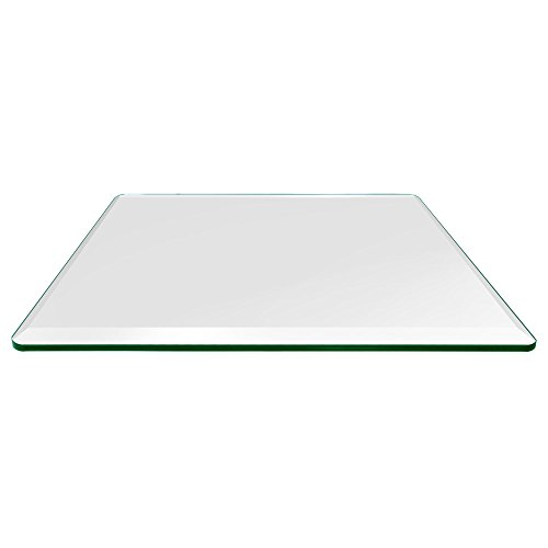 36' Rectangle Door - Rectangle Glass Table Top Custom Annealed Clear Tempered 3/8