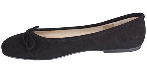 italienischer Ballerina schwarz Größe 43