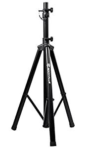 rockville rves05 black heavy duty tripod pole mount dj pa speaker stand musical. Black Bedroom Furniture Sets. Home Design Ideas