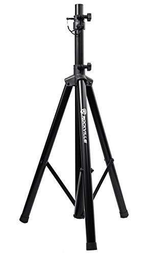 Rockville RVES05 Black Heavy Duty Tripod Pole-Mount DJ PA Speaker Stand