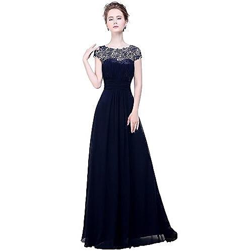 Long Navy Blue Bridesmaid Dresses: Amazon.com