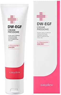 Easydew DW-EGF Cream Pressome 1.69 Fl Oz Award-Winning Anti Aging Moisturizing Cream with Human Epidermal Growth Factor - Naturally Produce Collagen to Rejuvenate & Regenerate Cells for Anti Aging