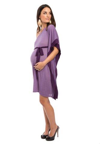 Everly Grey Women's Maternity Bennett Dress, Orchid, Large