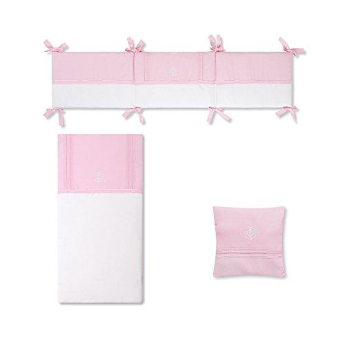 Bimbi Elite–Bettbezug, 72x 142cm, weiß und rosa