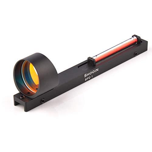 ZHIKE Holographic Red Fiber Red Dot Sight Reflex Circle Scope Sight for Shotgun Rib Rail Hunting ()