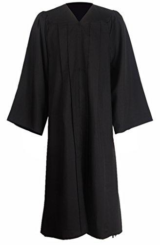 GraduationMall Unisex Premium Matte Graduation Gown Only Black Medium 48(5'3