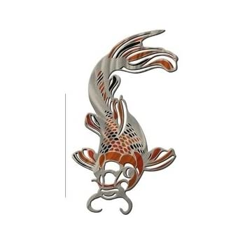 Koi fish metal wall art home kitchen decor for Koi home decor